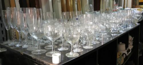 Vaisselle, coupes à vin