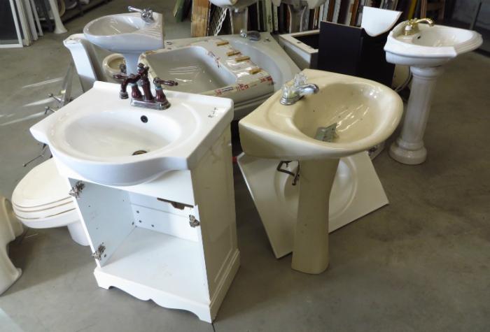 lavabos sur pied
